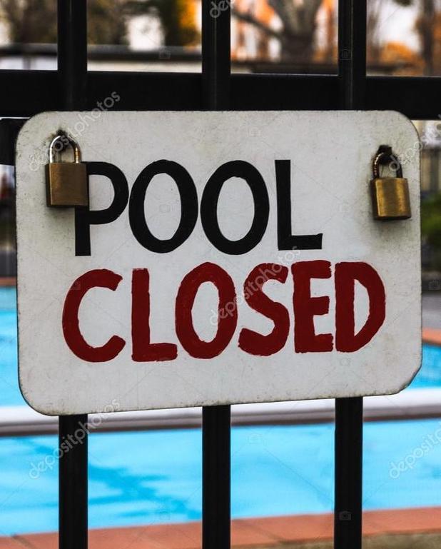 zwembad tijdelijk gesloten