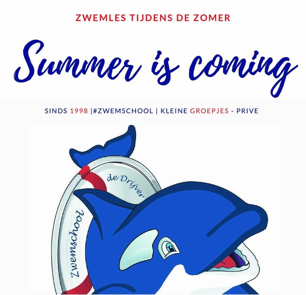 Zwemles tijdens de zomer!